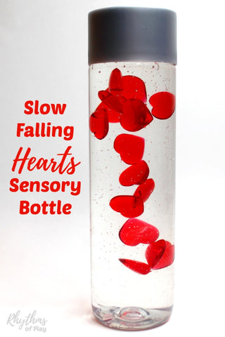 Sensory bottle with heart