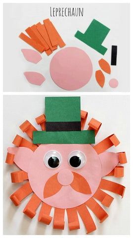 Leprechaun kids paper craft