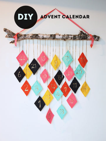 DIY advent calendar with wood and felt