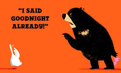 Good night already Bear saying by to suck