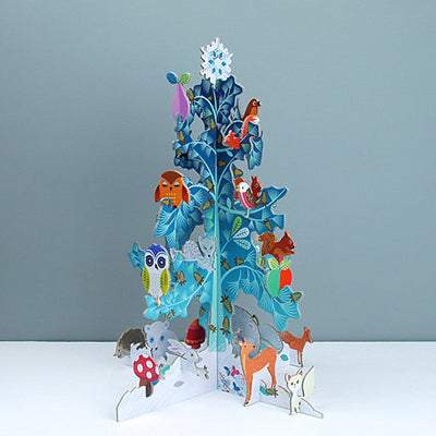 Advent calendar with winter creatures