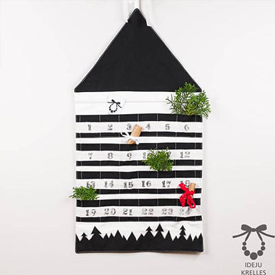 Fabric monochrome advent calendar