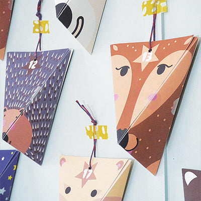 Advent calendar with woodland creatures