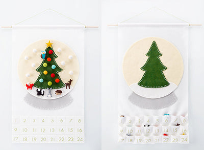 DIY felt advent calendar with a tree and felt ornaments
