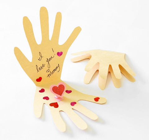 Valentine's card pop up hands