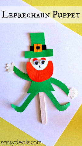 Leprechaun puppet for kids