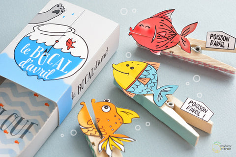 illustrated fishes on pegs