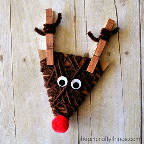 yarn wrapped reindeer
