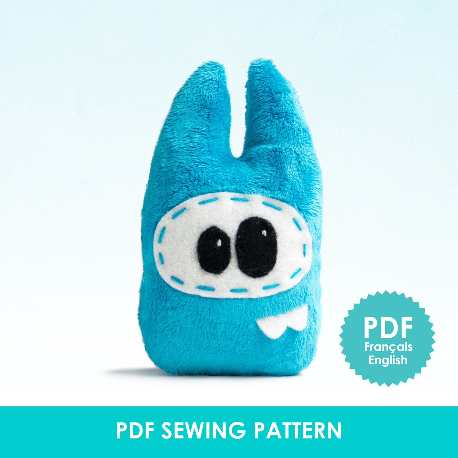 PDF Sewing Pattern - Blue monster