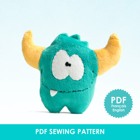 PDF Sewing Pattern - Green monster