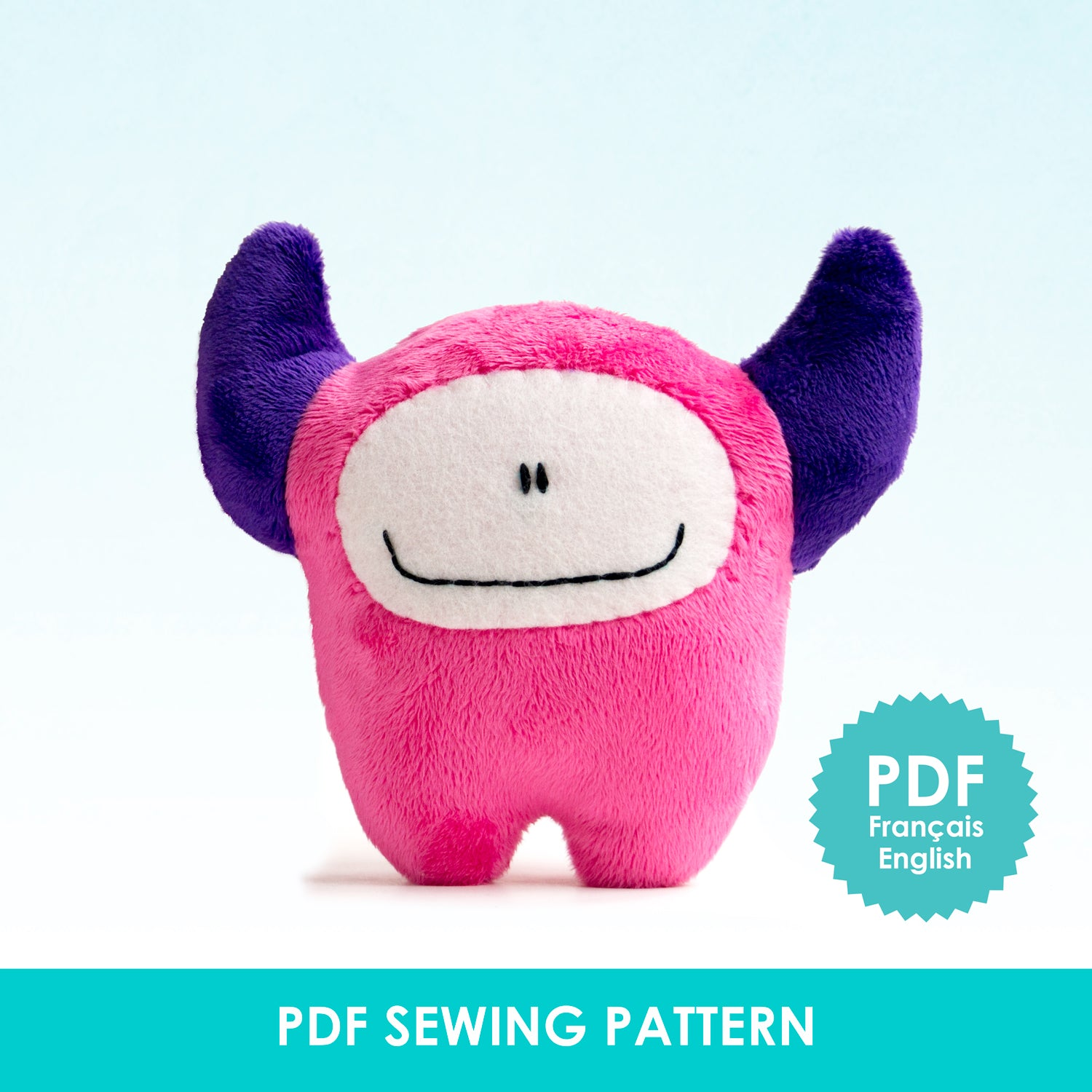 PDF Sewing Pattern - Pink monster