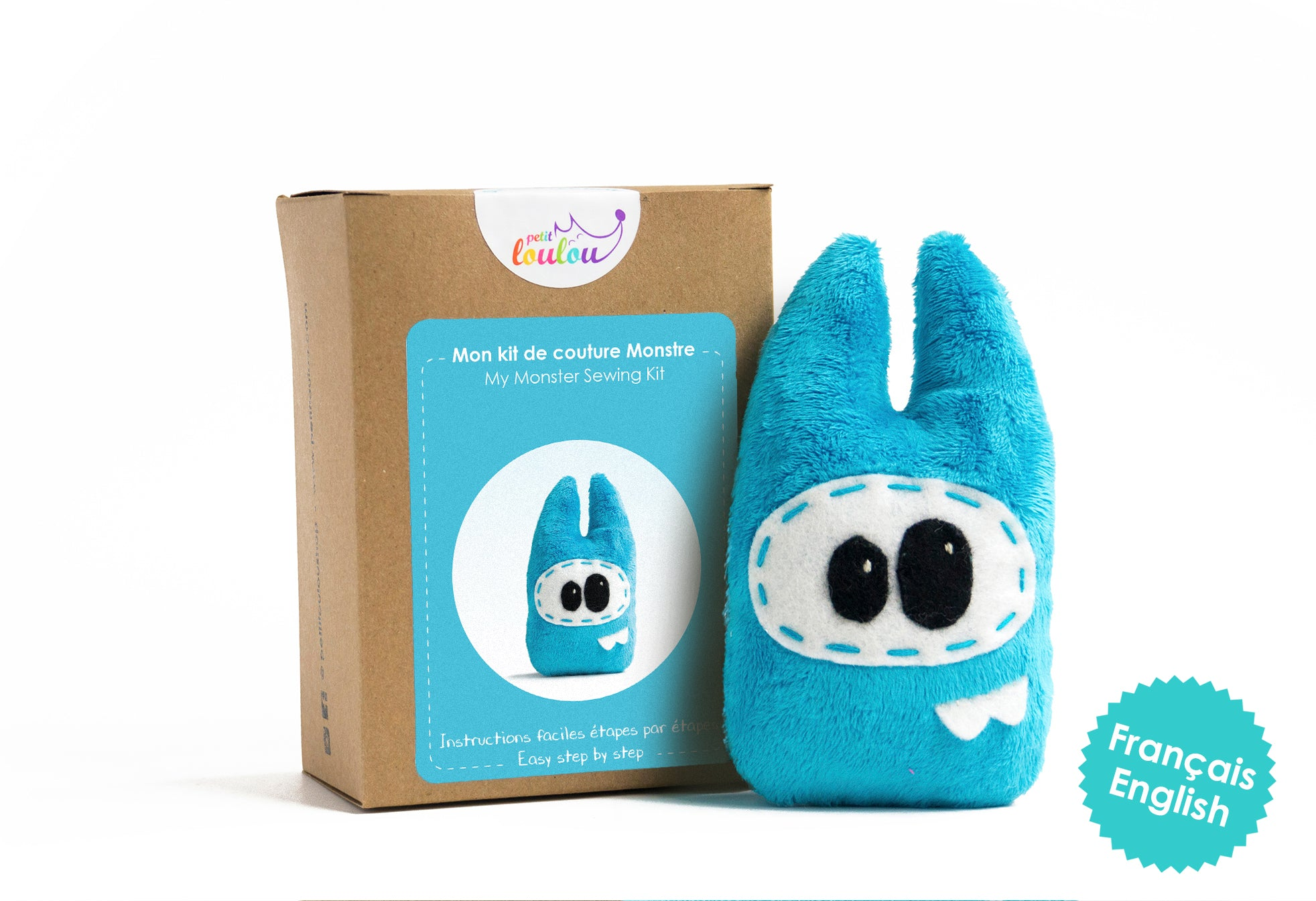Make Your Own Monster - A DIY plush monster kit - Blue