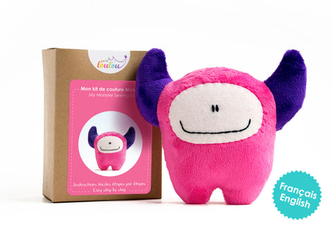 Make Your Own Monster - A DIY plush monster kit - Pink