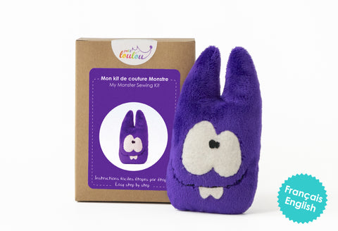 Make Your Own Monster - A DIY plush monster kit - Purple