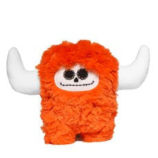 Stuffed monster - Day of the dead orange plush monster