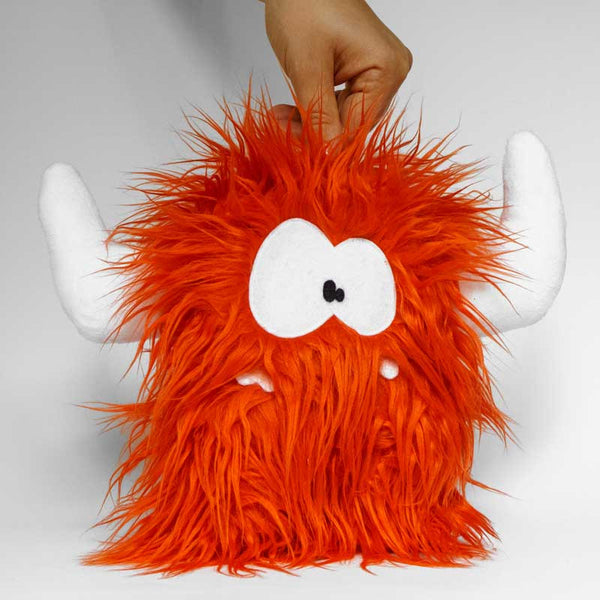 Stuffed monster - Orange monster with big hornes