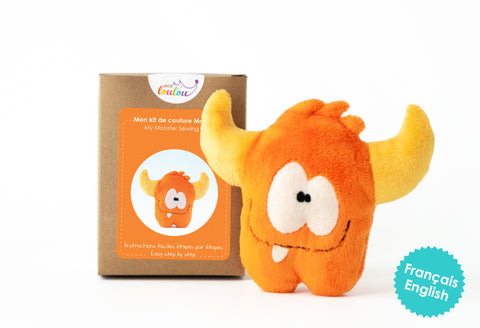 Make Your Own Monster - A DIY plush monster kit - Orange