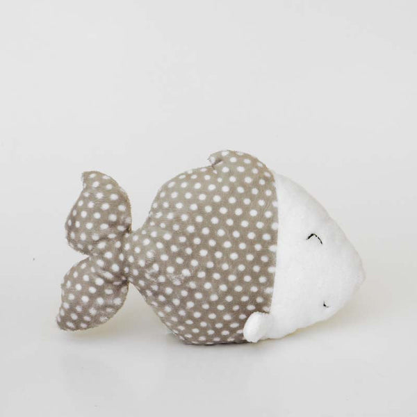 White and grey stuffed animal fish