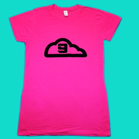 Ladies Cloud 9 Short Sleeve Crew Neck, Hot Pink