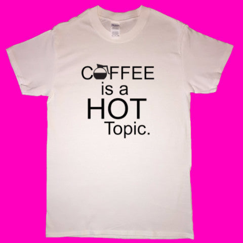 Coffee Hot Topic short-sleeved T-shirt