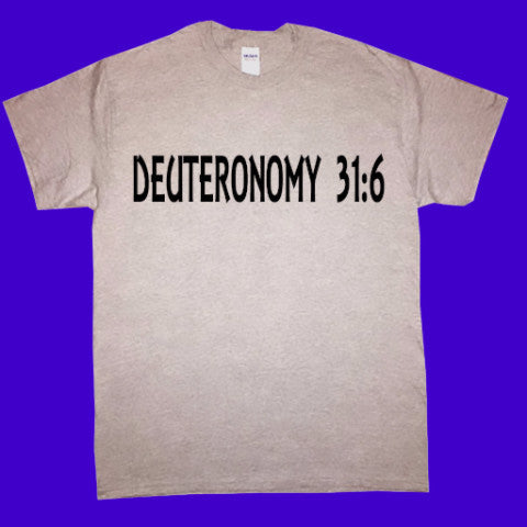 DEUTERONOMY 31:6 (Bible Verse)