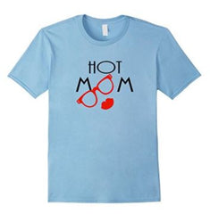 Hot Mom (Red Lips & Glasses) Tee