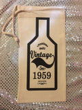 Vintage Wine Bag *CUSTOM*