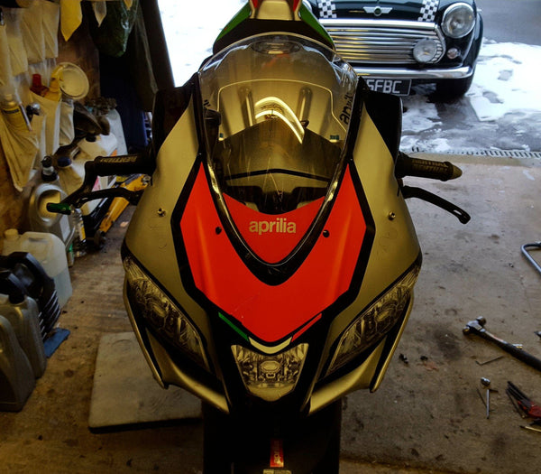 WSBK style headlight decals (stickers) for Aprilia RSV4 (RF) 2015+ - TrackbikeDecals.com