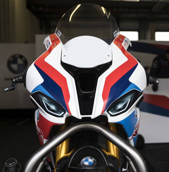 WSBK style headlight decals (stickers) for BMW S1000RR K67 2019 2020 2021- TrackbikeDecals.com