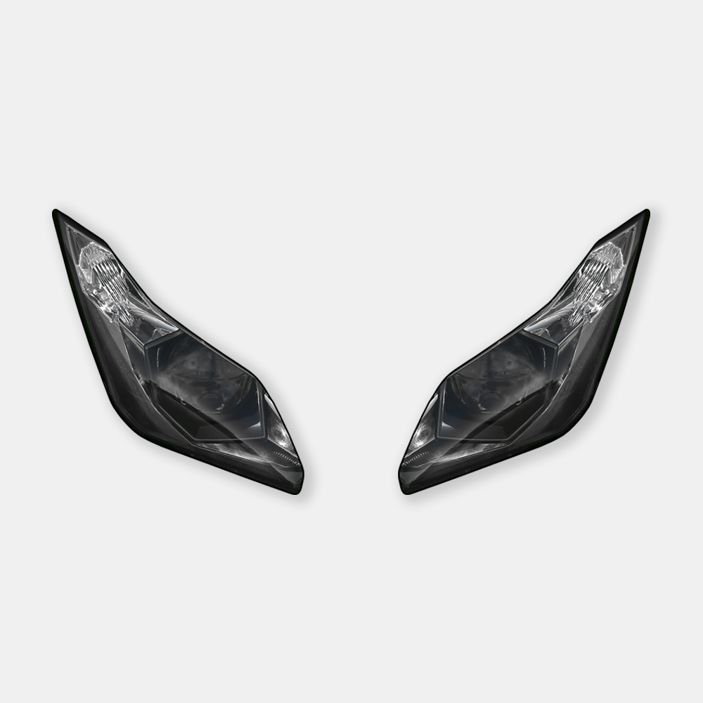 WSBK style headlight decals for Kawasaki ZX-6R / 636 Ninja 2013+ - TrackbikeDecals.com