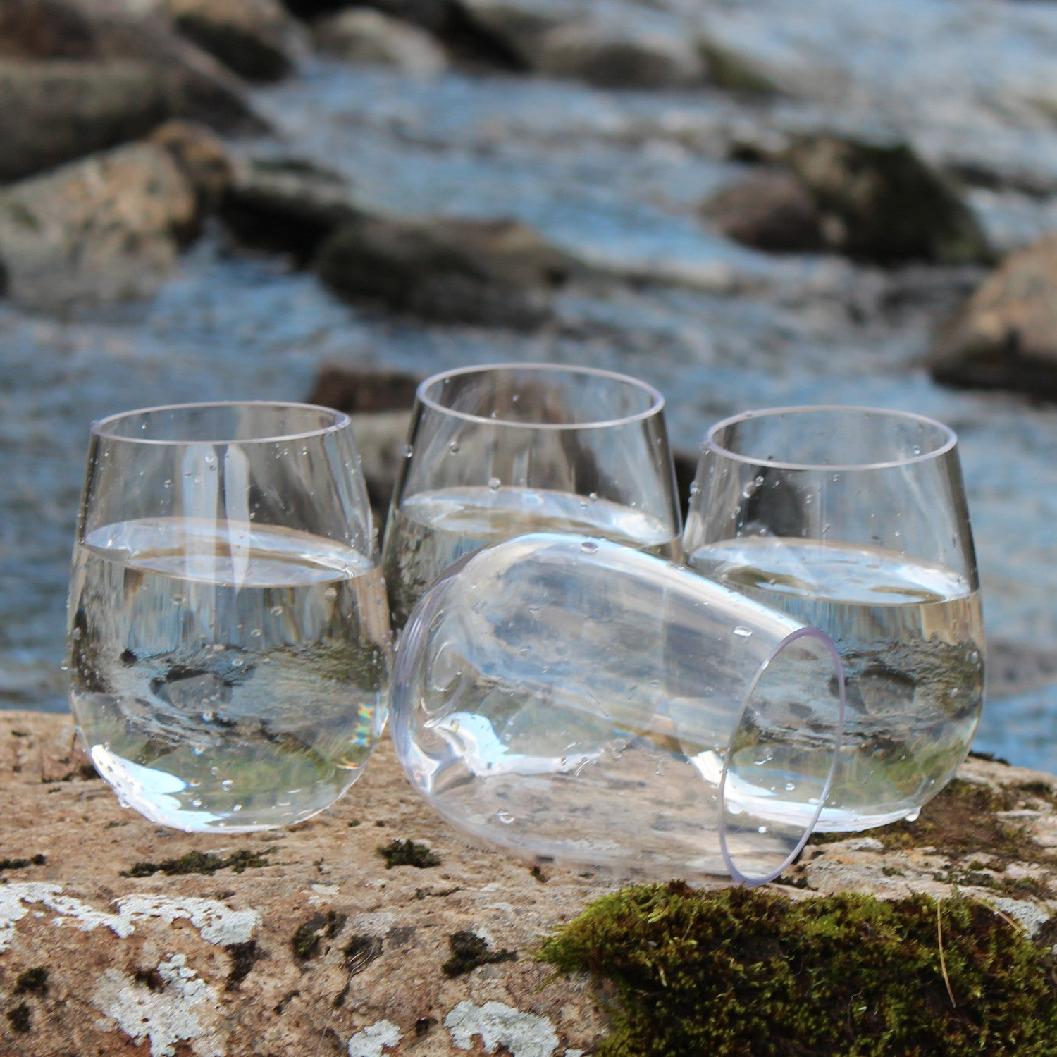36 stemless wine glasses bulk set