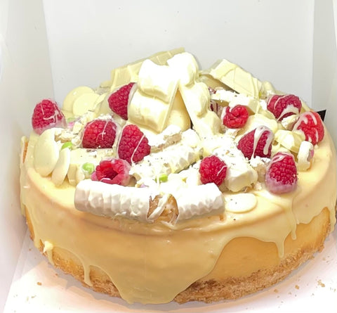 Raspberry and White Chocolate Deluxe Cheesecake