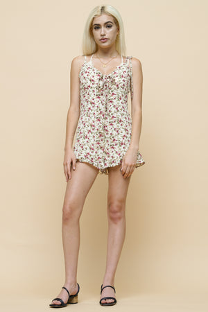 Forget Me Not tie front romper