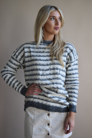 Best Time Striped Sweater