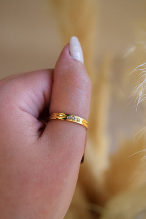 Gold Plated glam ring