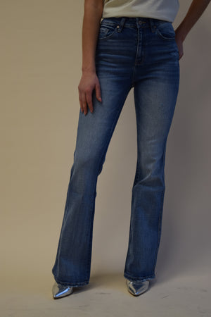 Kancan Lightwash Flare Denim