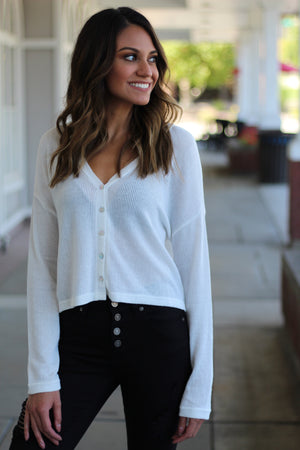 Cream Cardigan Top