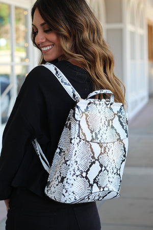 Snake Print Backpack