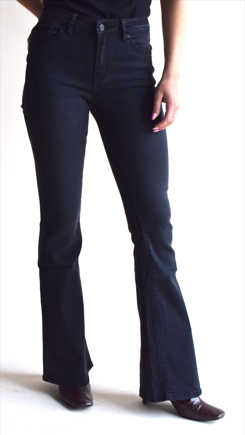 Kancan Black Flare Denim