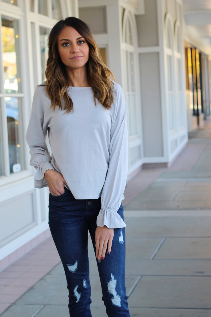Cloud Scrunch Sleeve Top