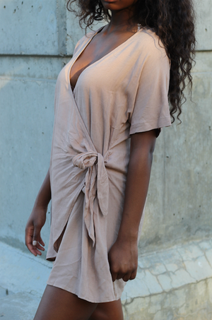 """On The Rocks"" tie front dress"