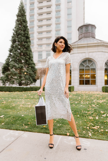 Out On The Town Sequin Dress