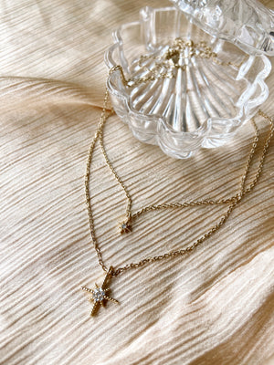 Starshine white gold necklace