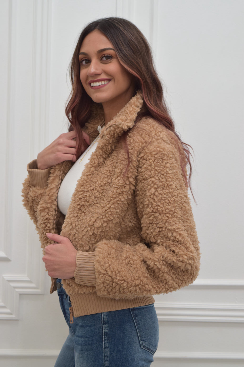 Caramel Latte teddy jacket