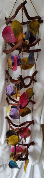 "48"" Multicolor Curly Vine Wind Chime, Gifts, - Shell Port"