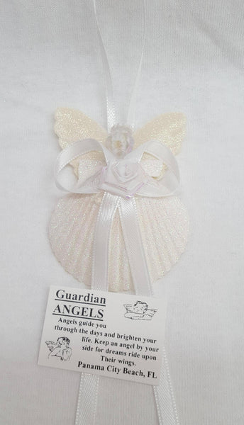 Small Shell Angel Ornament, Gifts, - Shell Port