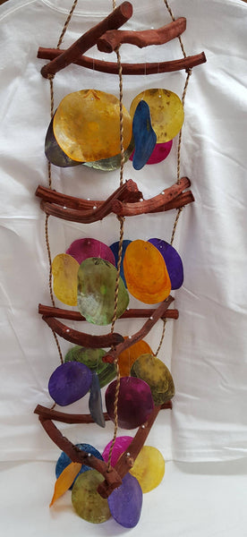 "36"" Multicolor Curly Vine Wind Chime, Gifts, - Shell Port"