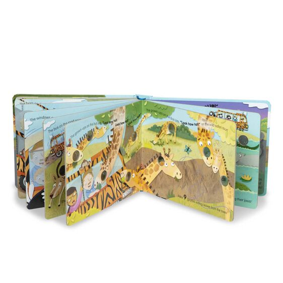 Melissa & Doug - Wheels on the Bus Wild Safari Board Book - Debbie's Hallmark