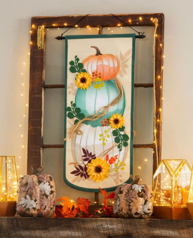 Evergreen - Stacked Pumpkins Everlasting Impressions Textile Decor