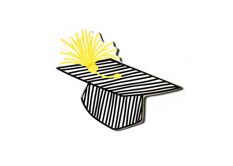 Happy Everything - Striped Graduation Cap Big Attachment